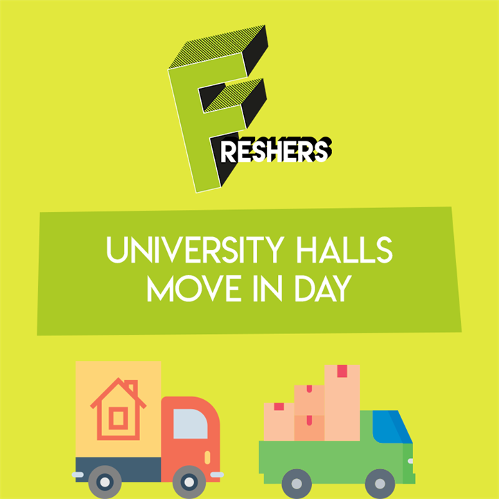 University Telford Halls Move in day