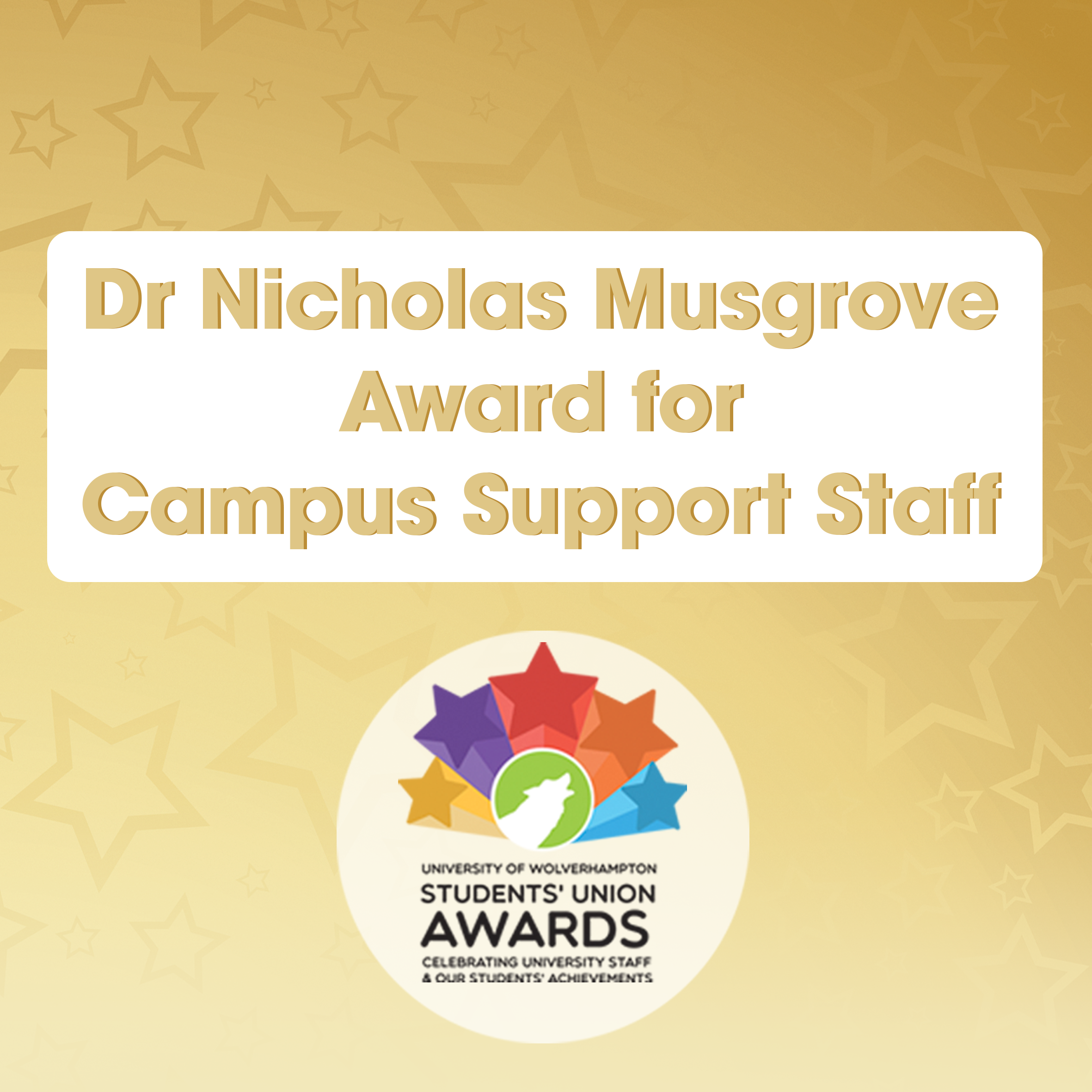 Dr Nicholas Musgrove Award for Campus Support Staff