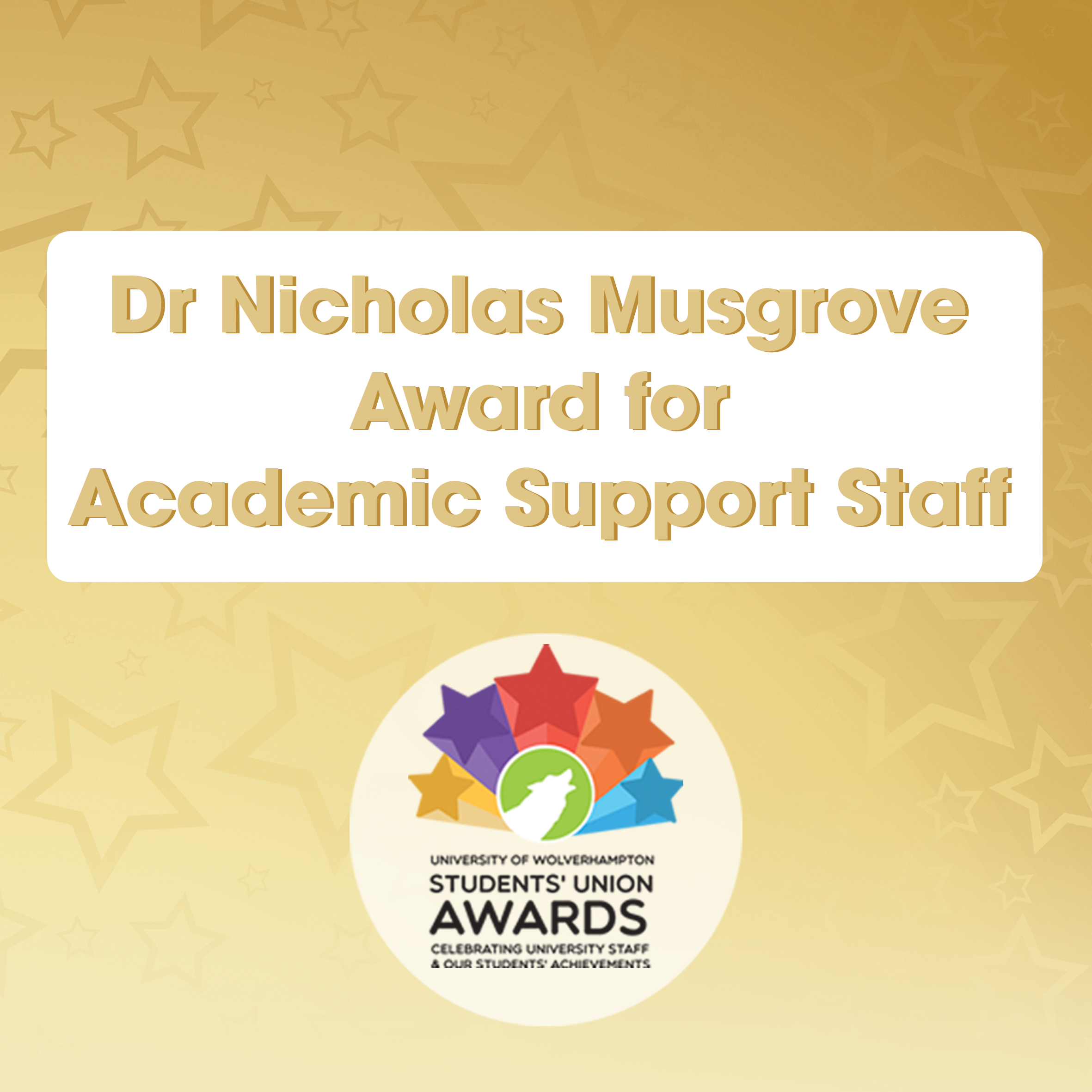 Dr Nicholas Musgrove Award for Academic Support Staff