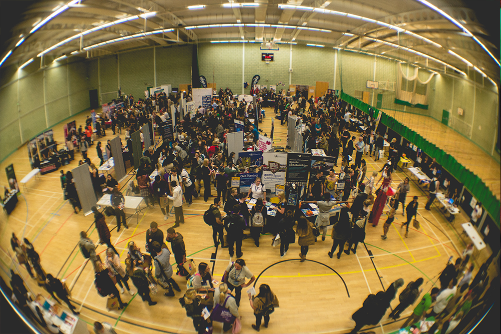 2016's Freshers Fayre in the WLV Gym